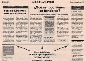 CINCO DIAS-LICITACION DE OBRAS PUBLICAS 990618