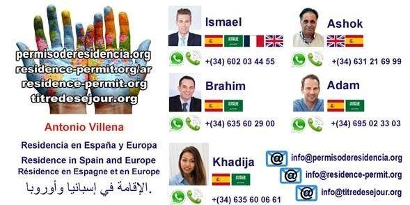 contacto permiso de residencia visa lucrativa