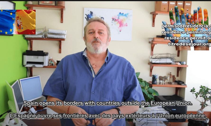 España abre sus fronteras con países de fuera de la Unión Europea.