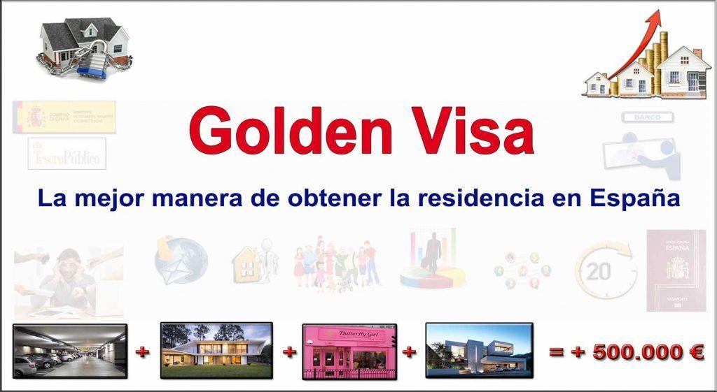 Visado por Permiso de residencia en España por Golden Visa