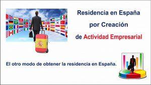 permiso de residencia por creacion actividad empresarial