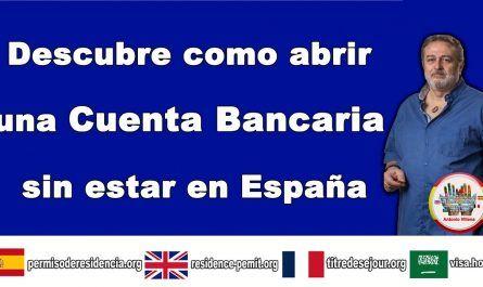 Abrir cuenta bancaria sin estar en España