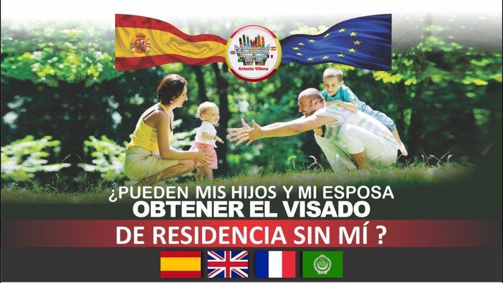 ¿ Pueden mis hijos y esposa obtener el visado de residencia sin mi ?